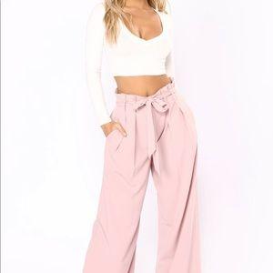 NWT! Fashion Nova Tie Pants! Size Large